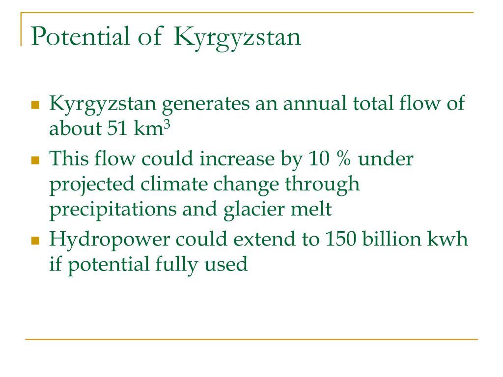 Potential of Kyrgyz