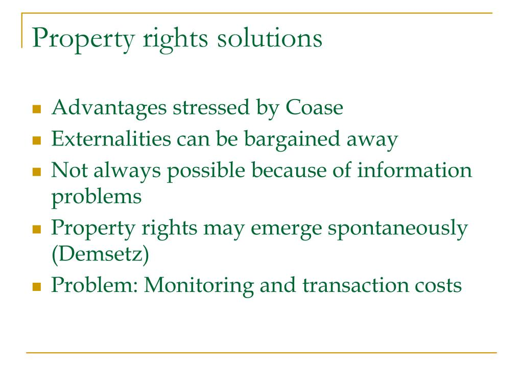 Property rights solutions