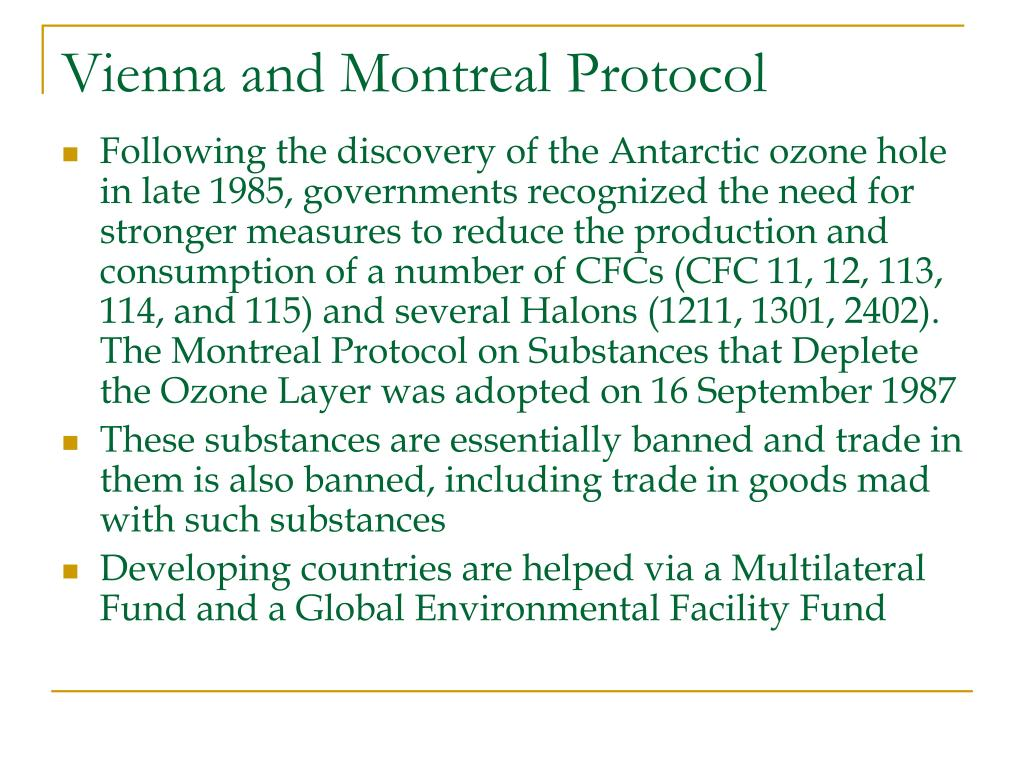 Vienna and Montreal Protocol