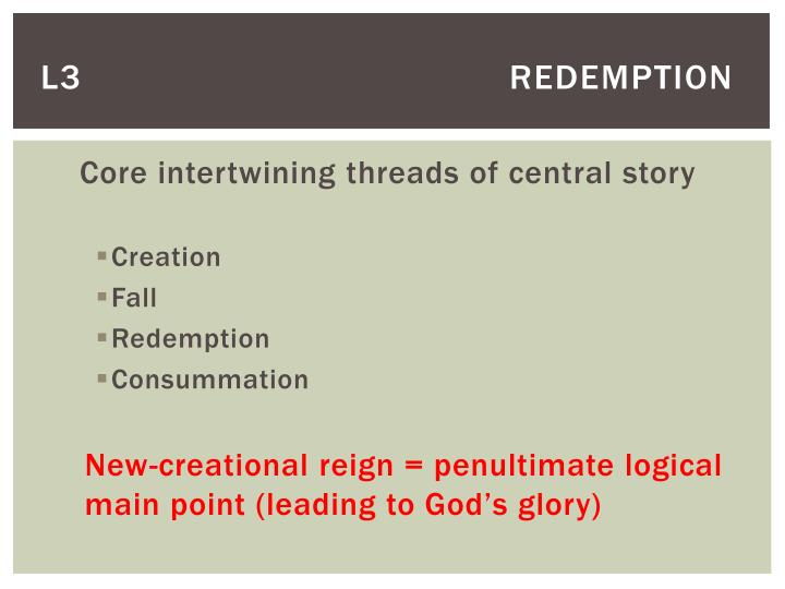 L3       redemption