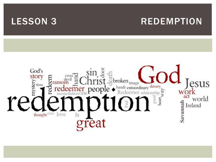 Lesson 3redemption