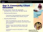 gap 3 community client education