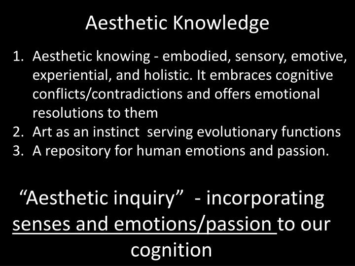Aesthetic Knowledge