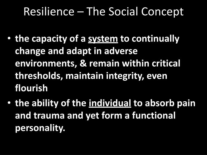Resilience – The Social Concept