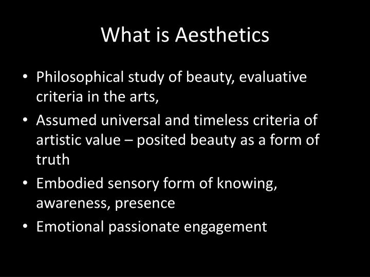 What is Aesthetics
