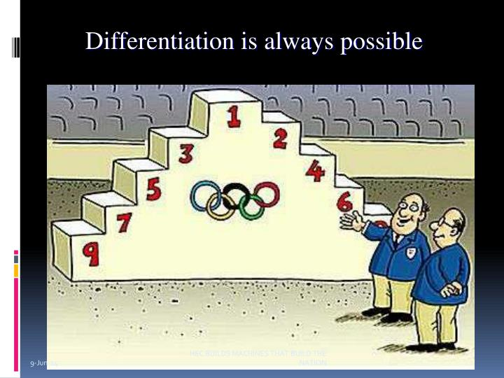 Differentiation is always possible