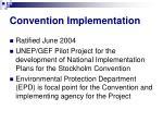 convention implementation
