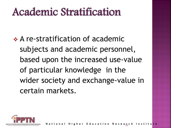 Academic Stratification