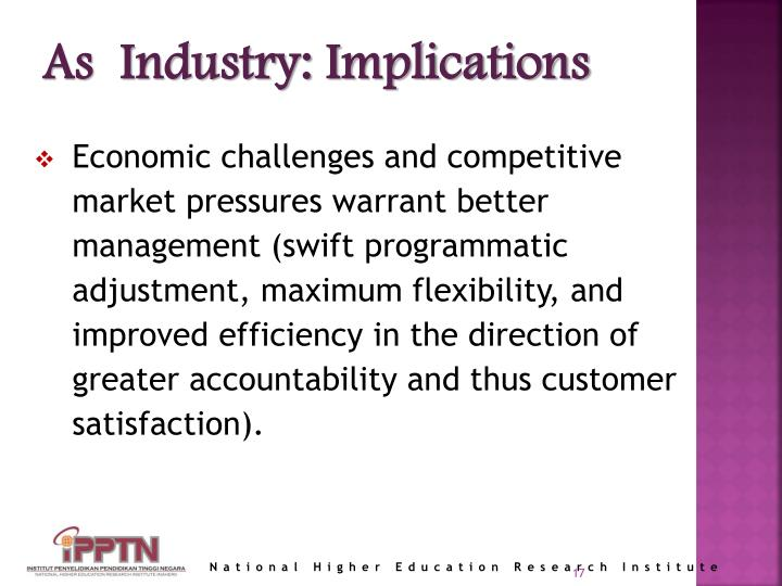 As  Industry: Implications