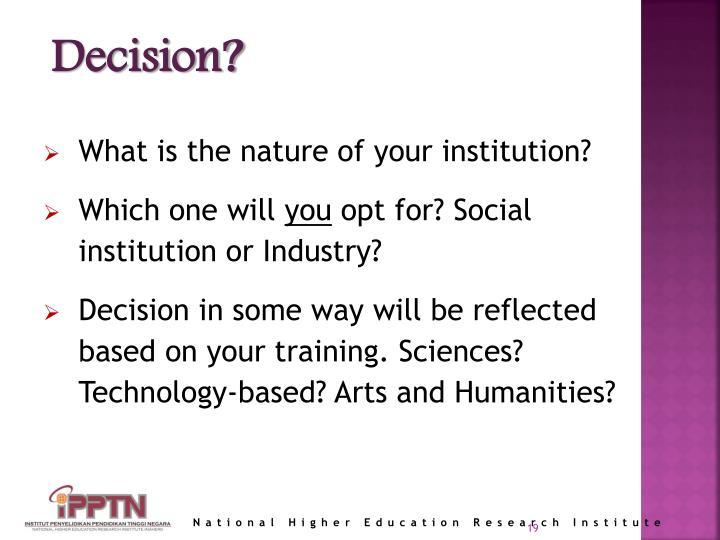 Decision?