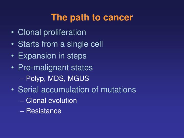 The path to cancer
