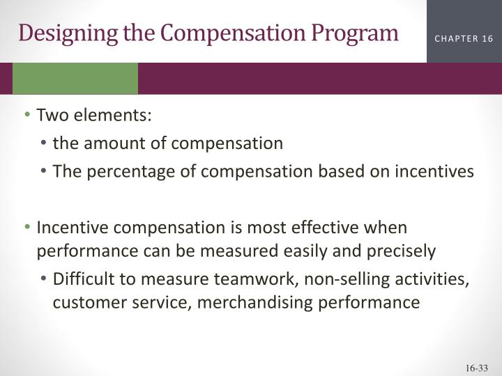 Designing the Compensation Program