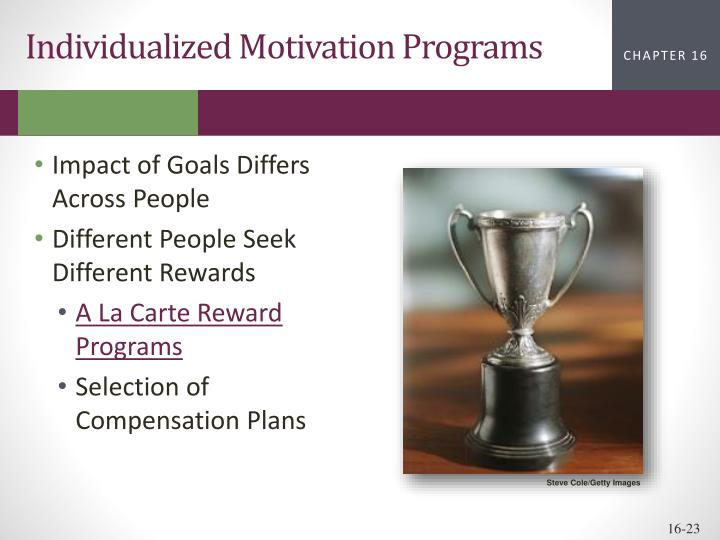 Individualized Motivation Programs