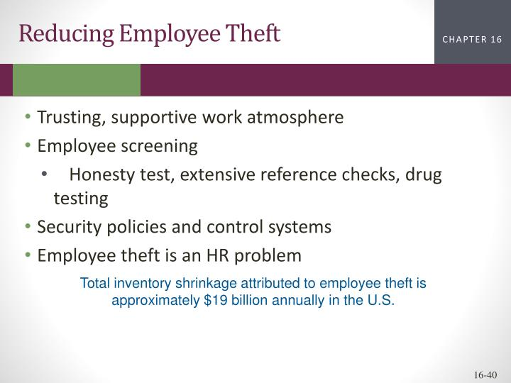 Reducing Employee Theft
