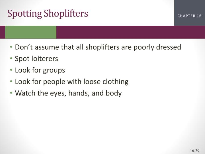 Spotting Shoplifters