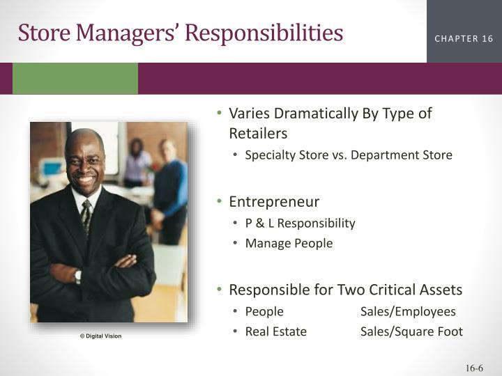 Store Managers' Responsibilities