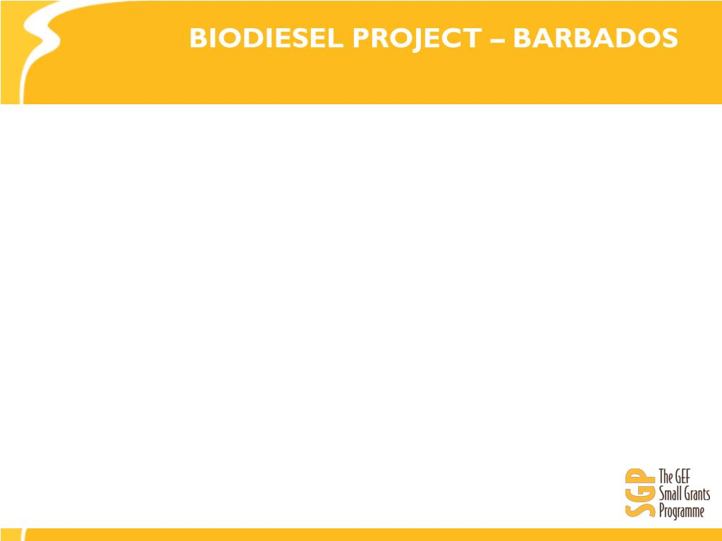 BIODIESEL PROJECT – BARBADOS