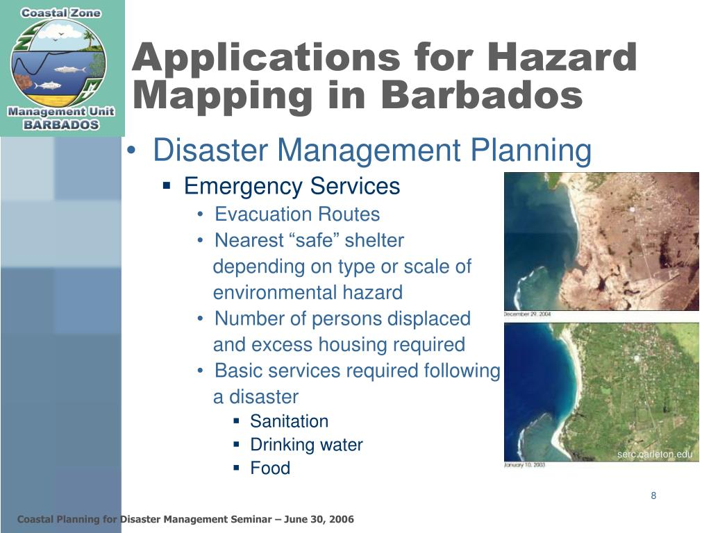 Applications for Hazard Mapping in Barbados