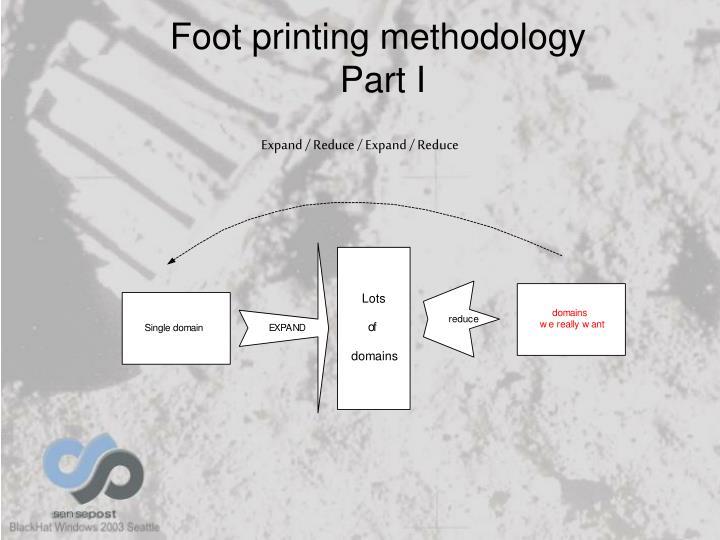 Foot printing methodology