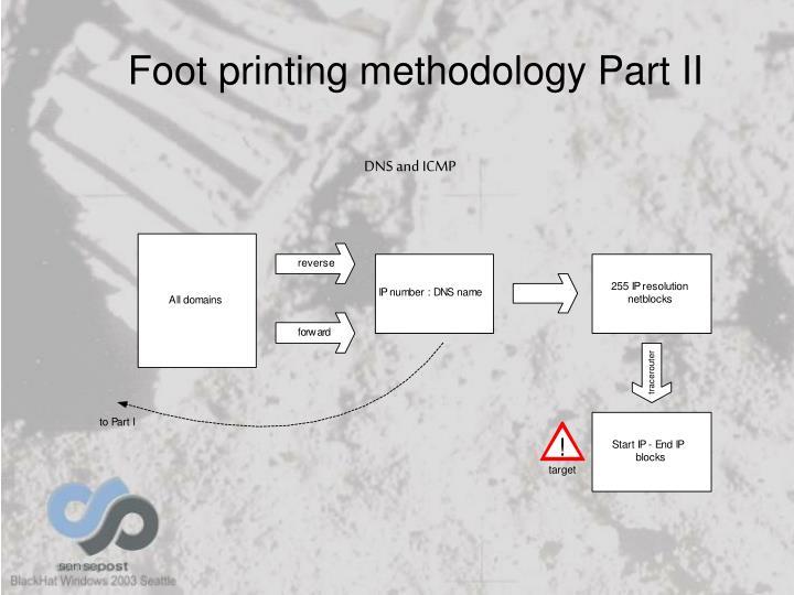 Foot printing methodology Part II