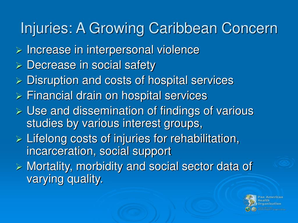 Injuries: A Growing Caribbean Concern