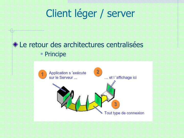 Client léger / server