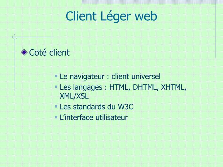 Client Léger web