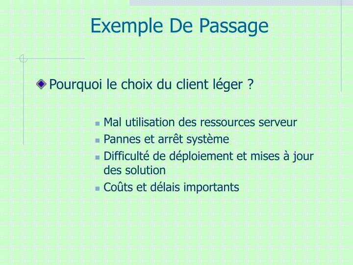 Exemple De Passage