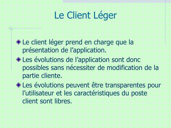 Le Client Léger