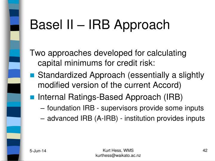 Basel II – IRB Approach