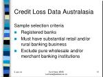 credit loss data australasia1