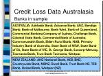credit loss data australasia4