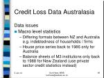 credit loss data australasia5