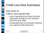 credit loss data australasia6