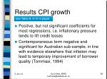 results cpi growth