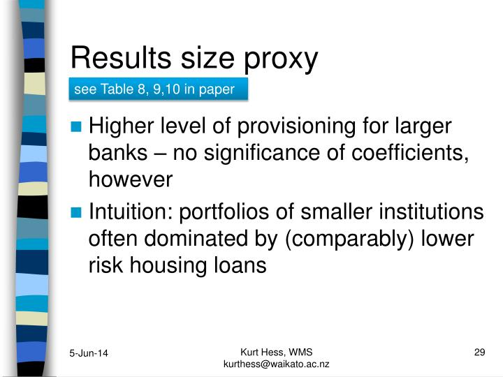 Results size proxy