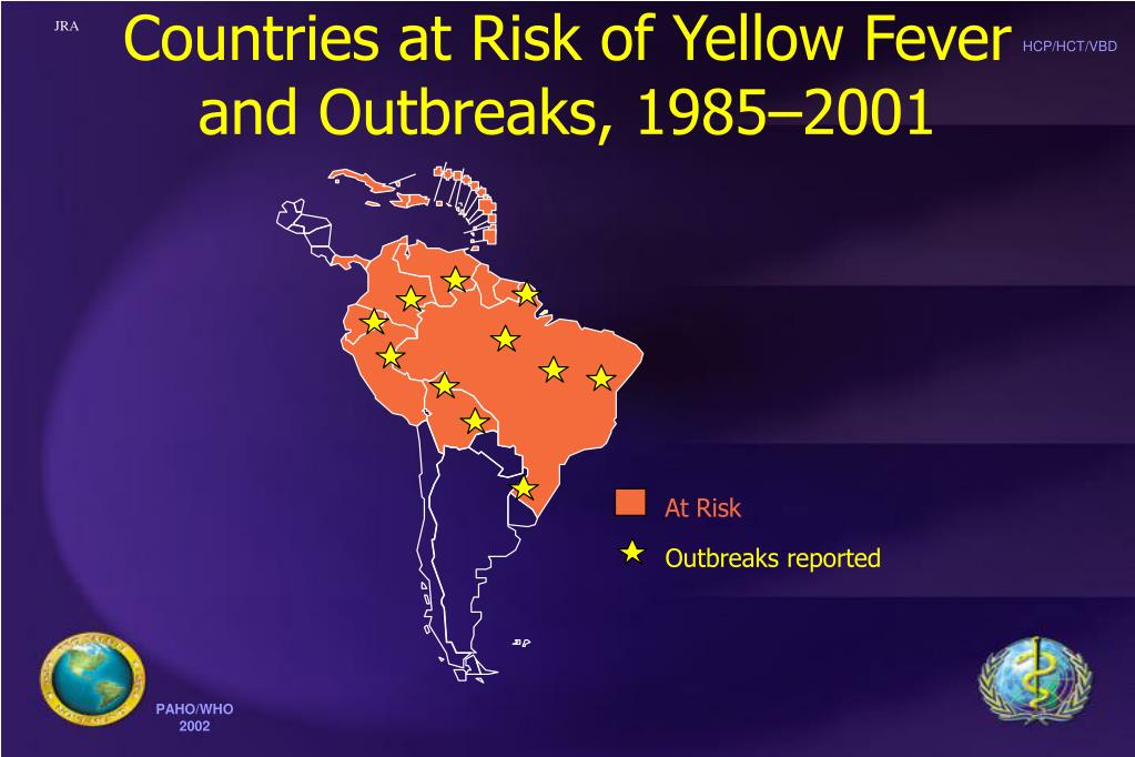 Countries at Risk of Yellow Fever