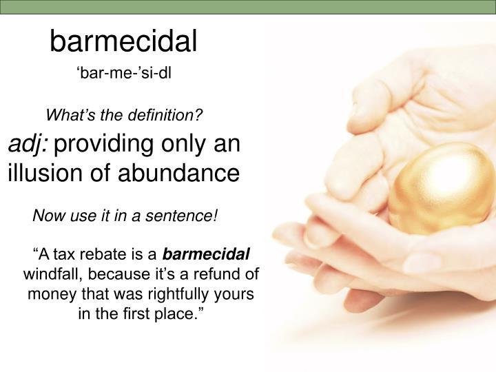 barmecidal