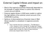 external capital inflows and impact on region