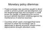 monetary policy dilemmas