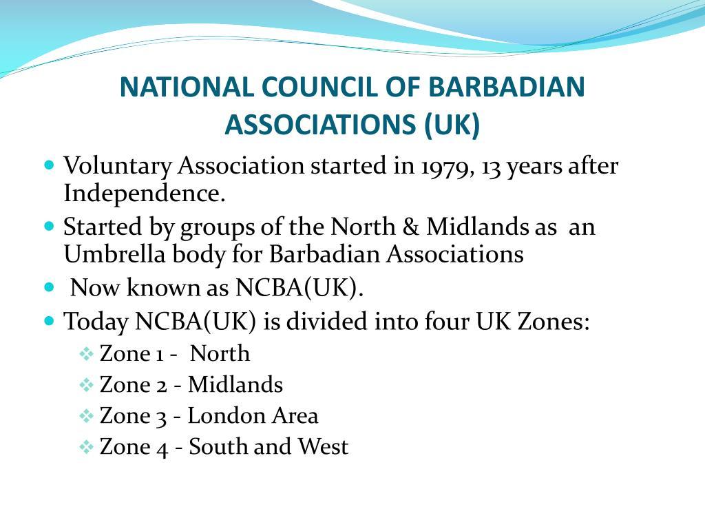 NATIONAL COUNCIL OF BARBADIAN ASSOCIATIONS (UK)