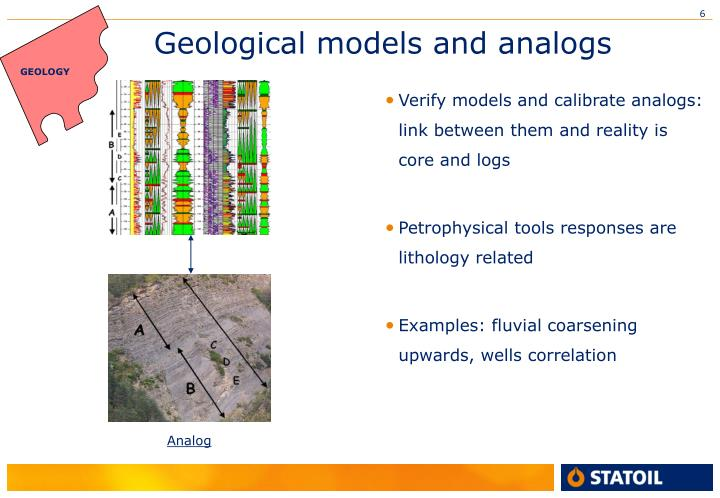 Geological models and analogs