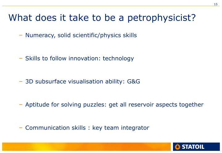 What does it take to be a petrophysicist?