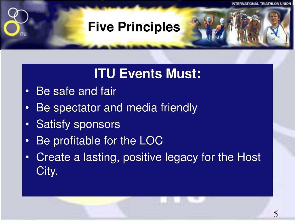 ITU Events Must: