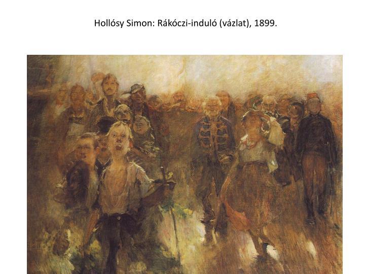 Hollósy Simon: Rákóczi-induló (vázlat), 1899.