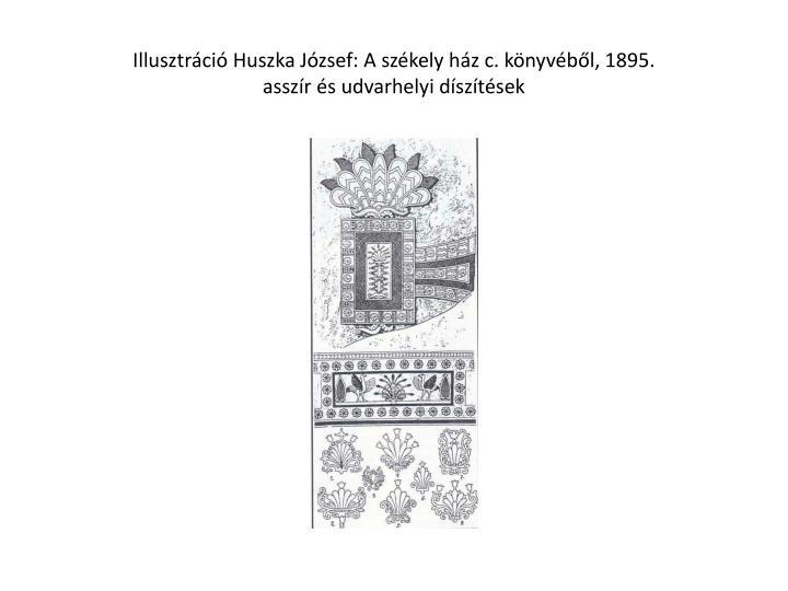 Illusztráció Huszka József: A székely ház c. könyvéből, 1895.