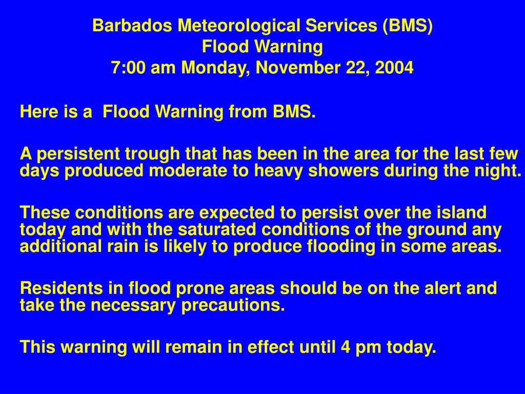 Barbados Meteorological Services (BMS)