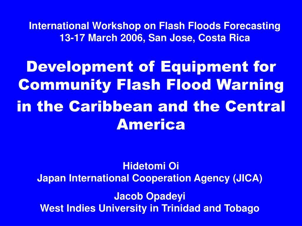 International Workshop on Flash Floods Forecasting
