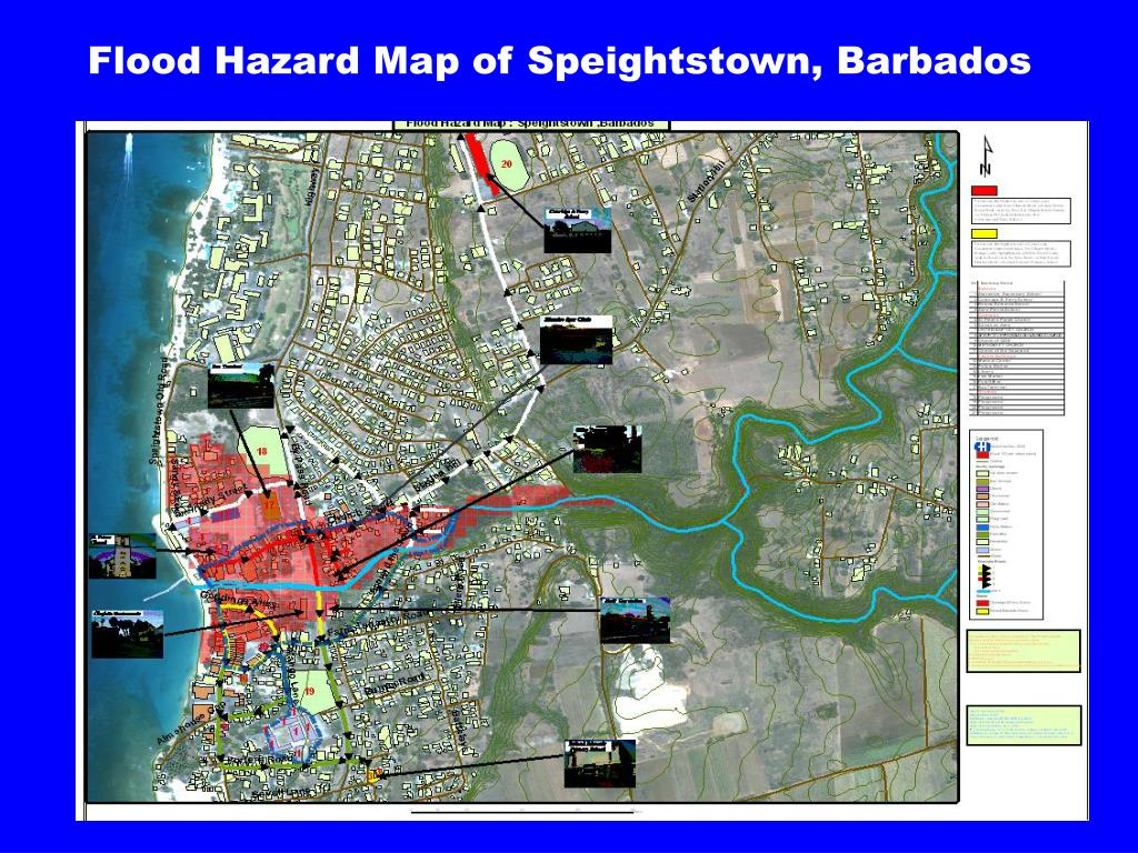 Flood Hazard Map of Speightstown, Barbados
