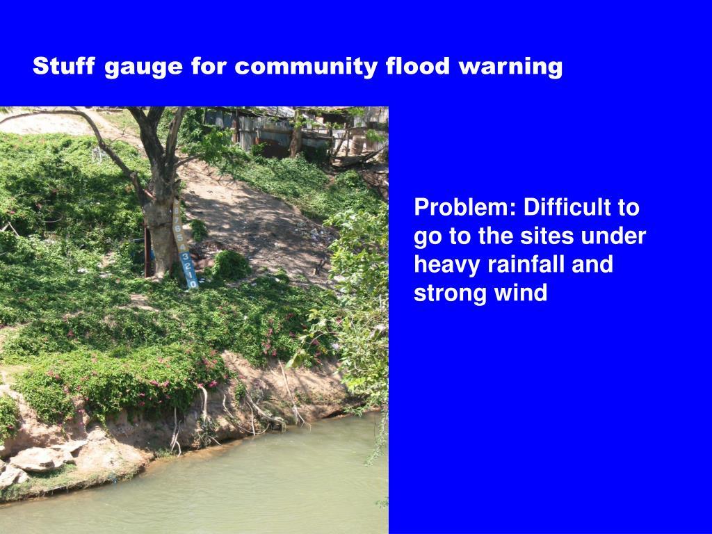 Stuff gauge for community flood warning